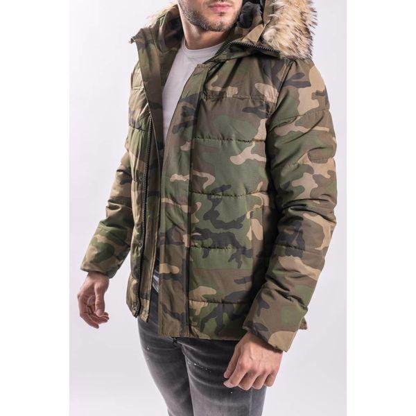 Y Winter Jacket ARMY PRINT green