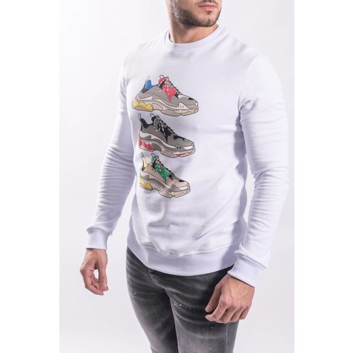 "Y Sweater ""shoe game"" WHITE"