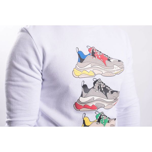 """Y Sweater """"shoe game"""" WHITE"""