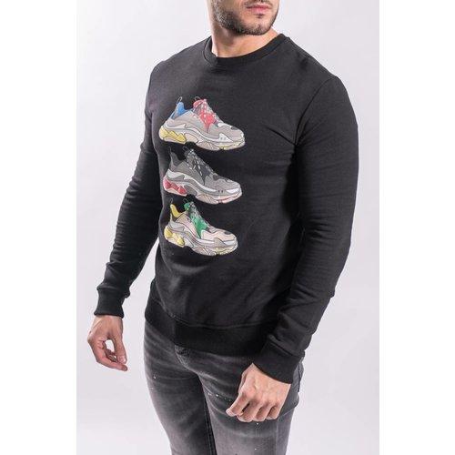 "Sweater ""shoe game"" BLACK"
