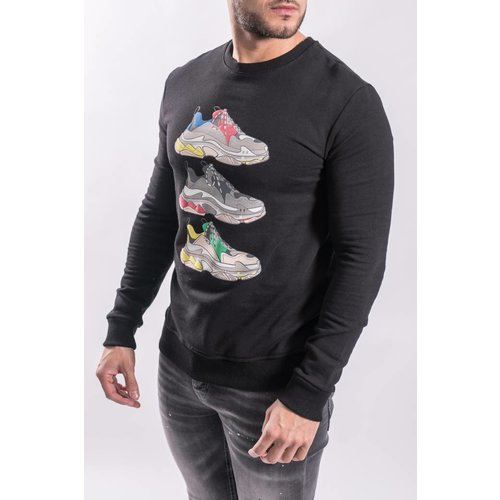 "Y Sweater ""shoe game"" BLACK"