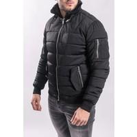 Y Pilot / bomber jacket black fur BLACK