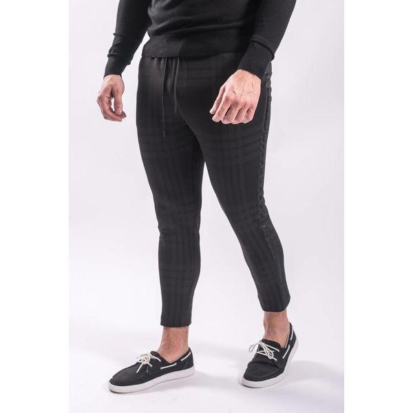 Y Track pants checkered black on black
