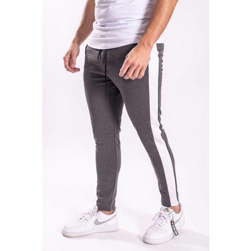 Track pants GREY white striped