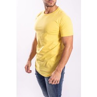 T-shirt basic long Yellow