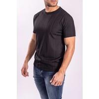 Y T-shirt shine stripes black