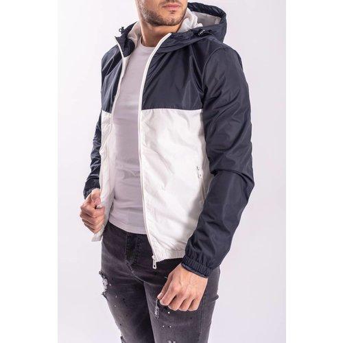 Jacket bicolor Blue / White