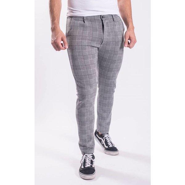 Checkered stretch pantalon