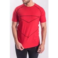 T-shirt red - black details