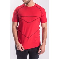 Y T-shirt red - black details