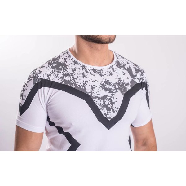 """Y T-shirt """"revange"""" White / black / grey"""