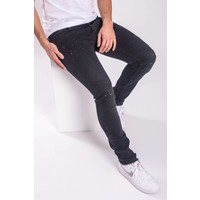 Y Skinny fit stretch jeans splashes white / BLACK