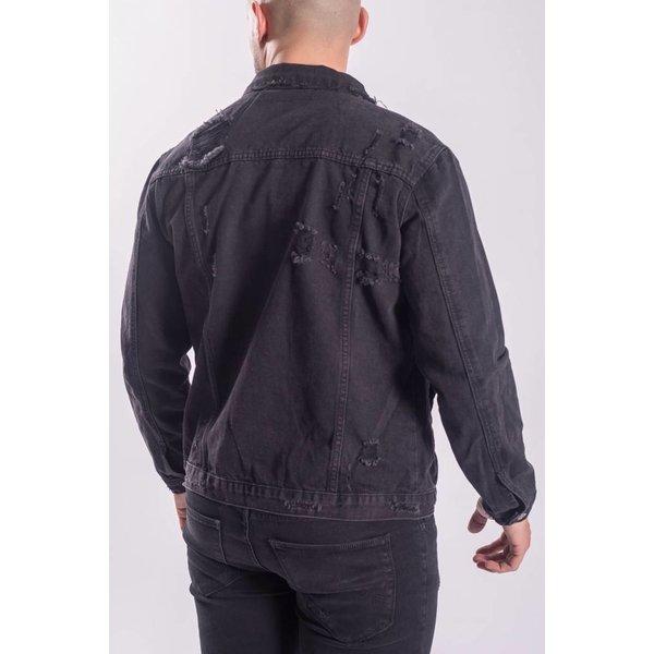 Y Denim jacket distressed Black