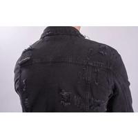 Denim jacket distressed Black