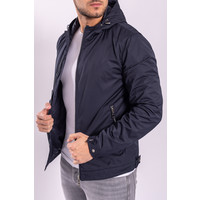 Jacket Dark Blue  with silver zippers