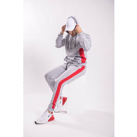 Y Tracksuit Half Zipped GREY/RED