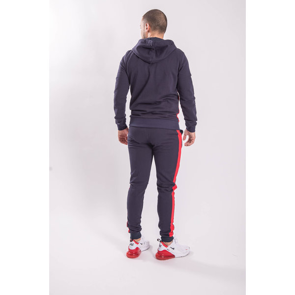 Y Tracksuit Half Zipped BLUE/RED
