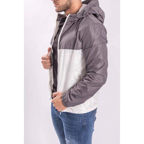 Jacket bicolor Grey / White