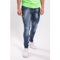 UP Skinny fit stretch jeans 1019 Green/yellow splashed BLue