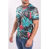 "Y UP T-shirt Flowered ""el chapo"" Major league Green/Black"