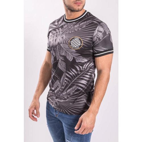 """T-shirt Flowered """"pablo"""" Major league Grey/Black"""