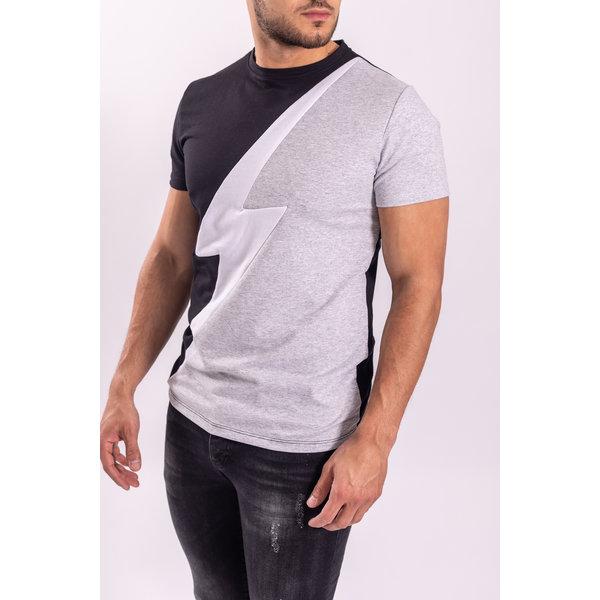 "T-Shirt ""lightning"" Black / Grey / White"