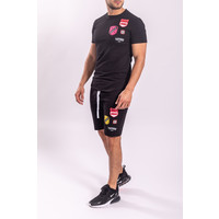 UP Twinset T-shirt / Shorts Black with Patches