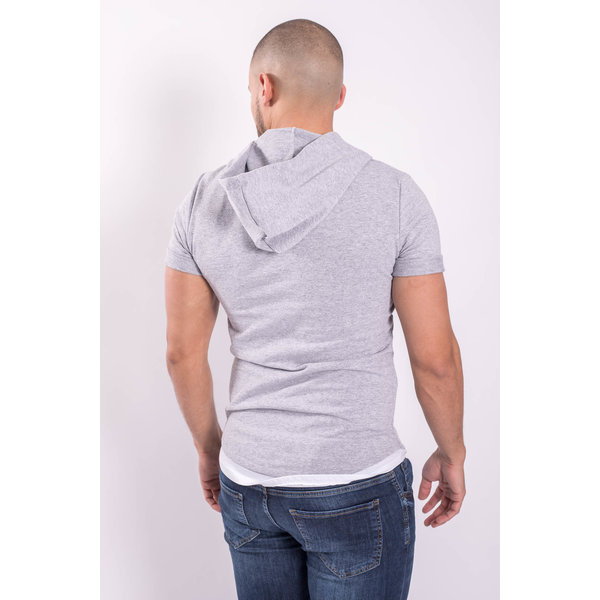 "Y T-shirt ""assassin"" with Hood Grey"