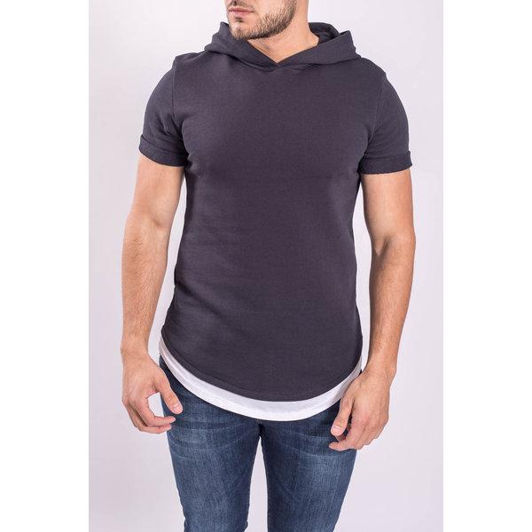 "Y T-shirt ""assassin"" with Hood Dark Blue"