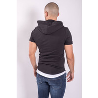 """Y T-shirt """"assassin"""" with Hood Black"""