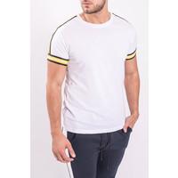 T-shirt white yellow striped
