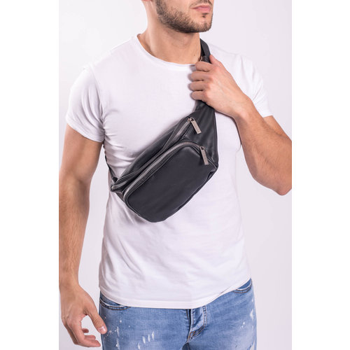 "Y Heup tas ""leather look"" Black"