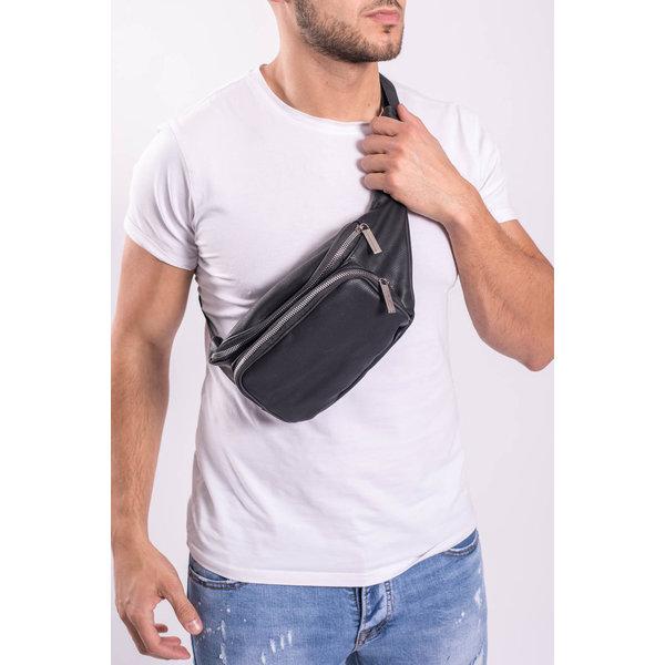 """Heup tas """"leather look"""" Black"""