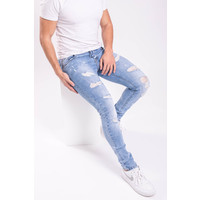 Y Skinny fit stretch jeans splashes light blue