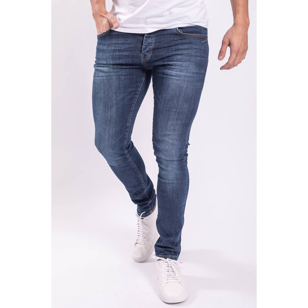 Skinny fit stretch jeans Basic Dark blue