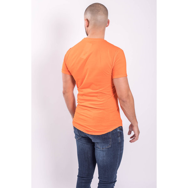 Y T-shirt basic long Orange