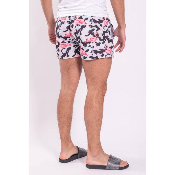 Y Zwembroek Camo/Flamingo Blauw/roze