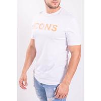 "Y T-shirt ""icons"" White / Orange"