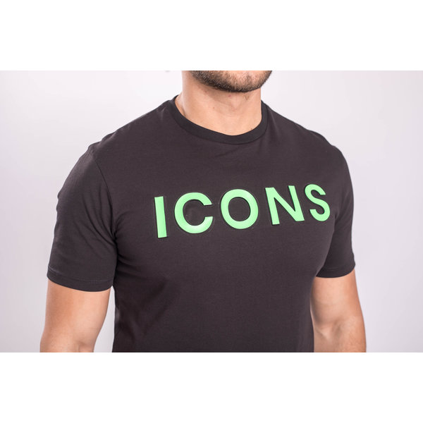 "Y T-shirt ""icons"" Black / Green"