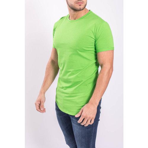 Y T-shirt basic long Lime Green