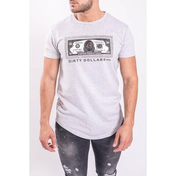 """Y T-shirt """"Dirty Dollars"""" Grey"""