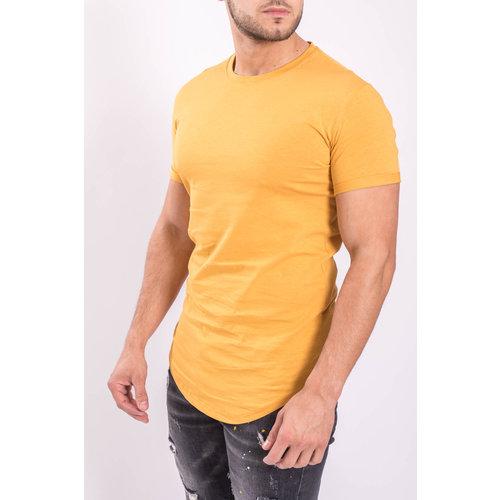Y T-shirt basic long Yellow/Musterd