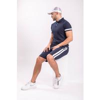 Y Two Piece set - Shirt + Shorts Dark blue / White