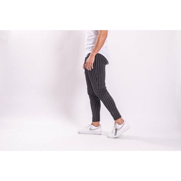 Y Pantalon / Track pants Black white stripes