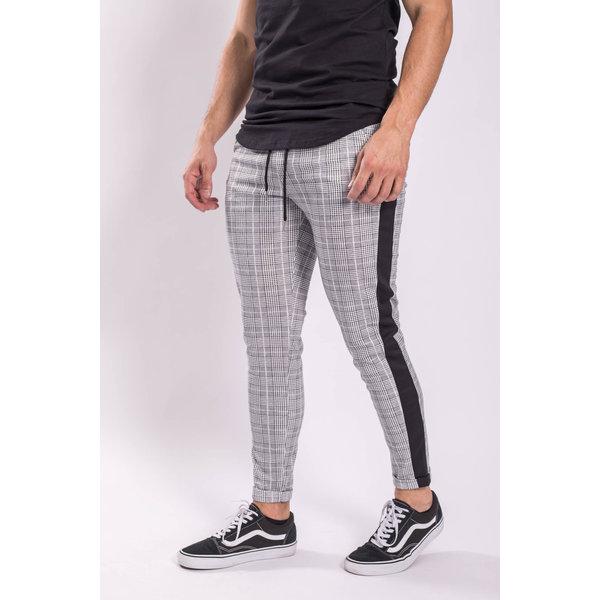 Y FR Checkered Pantalon / Track pants 1578 Grey / black striped