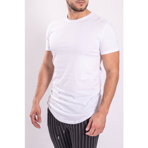 Y T-shirt basic long White