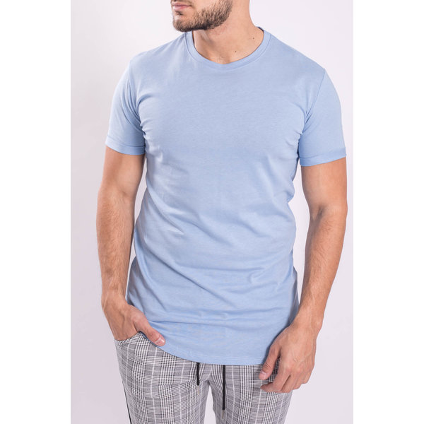 Y T-shirt basic long Baby Blue