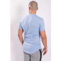 Y T-shirt basic long Baby Blue