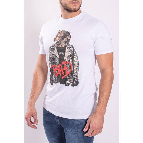 """Y T-shirt """"Bad Monkey"""" White"""