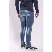 Y Skinny fit stretch jeans Blue washed shredz / splashes